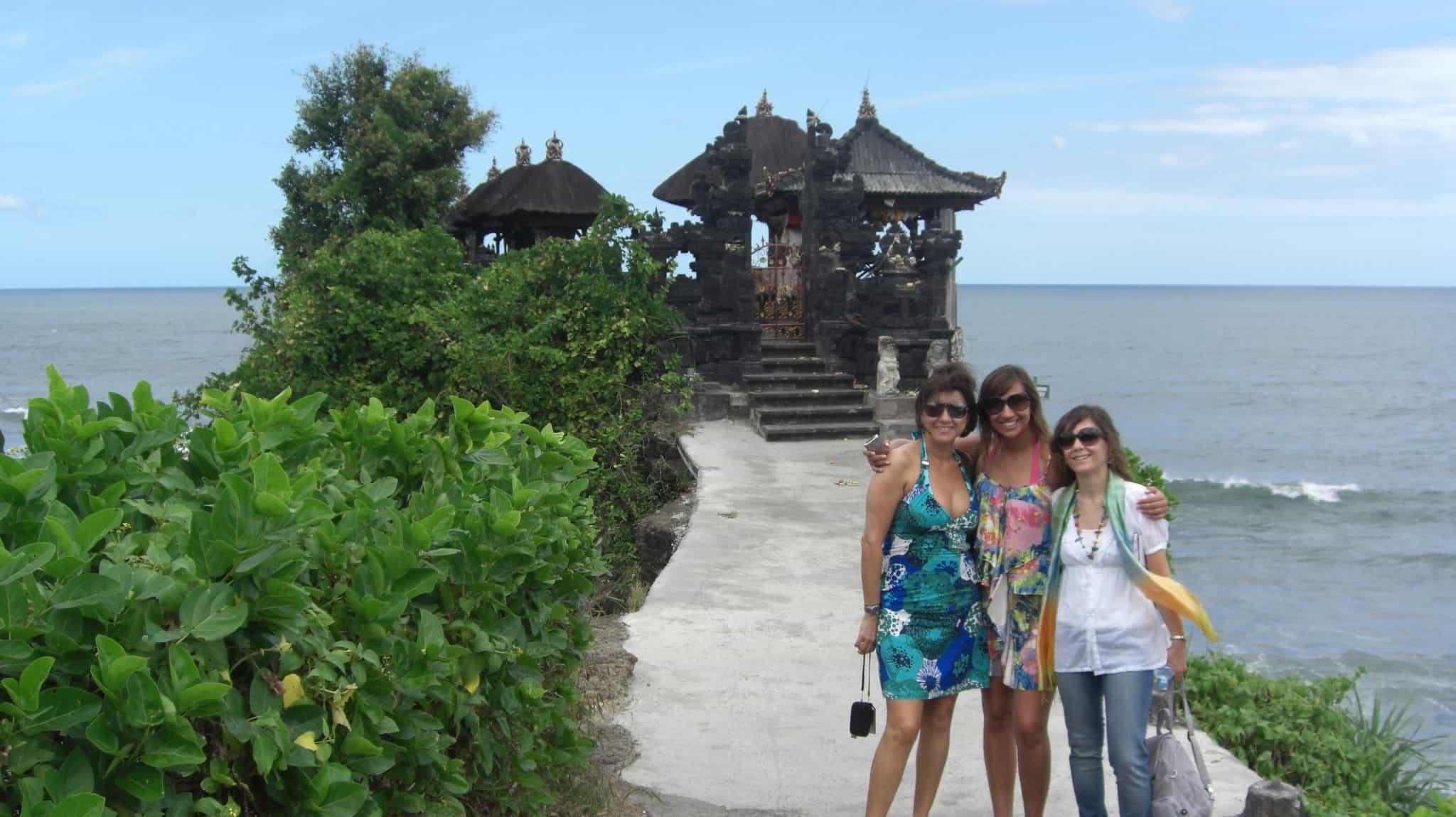 No Templo Pura Tanah Lot, em Bali